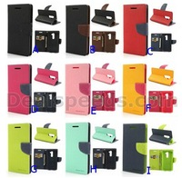 MERCURY Stand Leather Wallet Cover for LG G2 Optimus D801 with 11 Colors