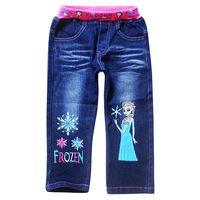 New arrival 2014 summer baby Kids jeans,frozen pants,children 's jeans cotton denim kids jeans girls,children clothing,trousers