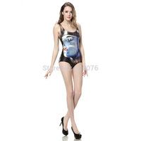 2014 hot sale new women Summer Peter Punk printed swimwears 3D swimwears sexy one piece swim suits