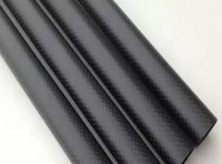 Free shipping CRF tube, size(OD*ID*length unit mm):12*10*500, 3K plain carbon fiber tube, plain matt surface, black colour pipe