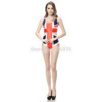 2014 hot sale new women Summer the British flag printed swimwears 3D swimwears sexy one piece swim suits