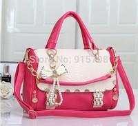 Spring 2014 new female bag bag influx of women bow hit the color crocodile handbag diagonal package