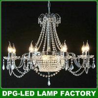 Modern led big e14 crystal chandeliers cheap cristal pendant lights lustres de casa sala lamps  fan para quarto dining room c03