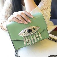 Small eyes women leather handbags chain clutch handbag desigual evening shoulder bags bolsas femininas 2014 fashion vintage bag