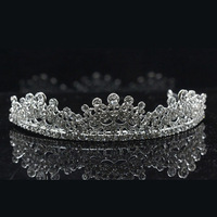 High Quality Rhodium Plated Wholesale Fashion Crystal Princess Crown