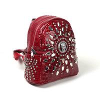 new European and American College of wind Crocodile Leather Ladies backpack fashion guru head diamond Diamond Ladies Satchel