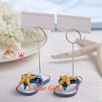 Starfish flip flop place card holder 100Pairs/LOT wedding place card holder/picture frame 2PCS/Pair