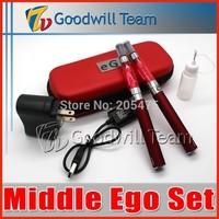 Hot  Middle Ego Kit  Double e cigarette kit 2 CE4 atomizer Clearomizer 2 batteries  Electronic Cigarette set series 5pcs