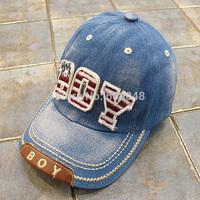 girls boy jeans baseball caps kids hats children head accessories cap hat