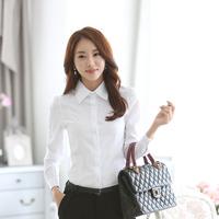 Women Office Shirt White Blouses Chiffon Formal Shirts Plus Size XXXXL Free Shipping