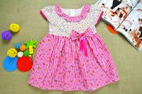 Retail princessIN STOCK  2014 summer 1pcs baby girls dancing clothing princess children tutu kids dress colored dots dress