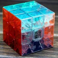 New YJ  yulong Transpatent  3x3x3  Magic cube Moyu yulong 3x3 Speed  Cube Puzzle