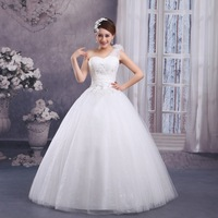 Free shipping 2014 new Korean Bra shoulder shoulder wedding dress sweet princess diamond