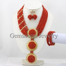 2014 NEW African Beads Jewelry Set Nigerian Wedding Beads Jewelry Set Free Shipping TS001
