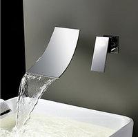 8856/6 Wall Mounted Chrome Waterfall Bathroom Bathroom Mixer Sink Faucet