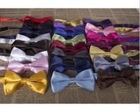 10 Pcs Fashion new men's  bow tie solid color wedding dress tie