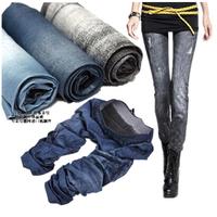 S-XL New 2014 Autumn Fashion Pants for Women Was Thin Denim Jeans Leggings Nine Plus Size Stretch Pants Feet 14 Colors