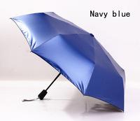 2014 free shipping solid black coating automatic folding sun umbrella fishing travel umbrella