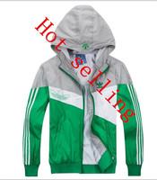 2014 Free Shipping New Arrival Men's Sportswear Hoodie Jackets Hot Sale Spring Fashion Windbreaker Zipper Coats Plus Size