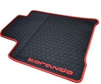 Free shipping for 2011-2014 Ssangyong Korando car floor mats waterproof durable rubber car rugs 2012 Korando car mats