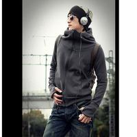 New Korean Men's Slim Fit Sweatshirts  Male Coat/ Zipper  up Hoodies/Top