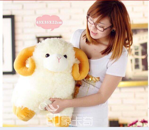 stuffed animal 45x35cm cute sheep plush toy soft doll w2193(China (Mainland))