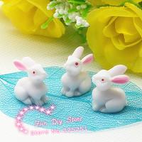 kawaii small resin rabbit Cabochon Flat back decoration free shipping 50pcs/lot 14mm