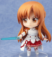 "Sword Art Online Asuna PVC Cute Nendoroid 4"" Change movements and expressions anime action figure Free shipping"