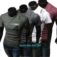 2014 summer new men's fashion casual men's T-shirt cotton short-sleeved T-shirt