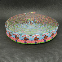 "2014 NEW wholesale 7/8'(22 mmx10yards) 100% Polyester Woven Jacquard Ribbon cartoon ribbon ""Adopt me """