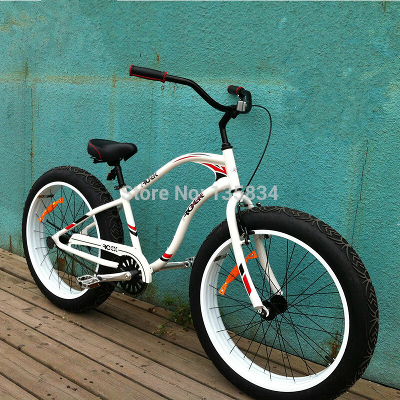 2014 New Chopper Bike Snow Mountain Bike Snow Bicicleta 26x 4.0 Super Wide Flat Tire Bicycle Beach Cruiser Snow Bike(China (Mainland))