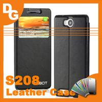 Hot Sale Original 6 Colors High Quality Flip leather Case For Cubot S208 Quad Core MTK6582 Smartphone