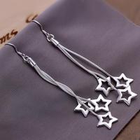Min Order is $15,New Arrival Fashion 925 Silver Plated Earrings Wholesale Women's Silver Earring Jewelry ! cRYSTAL sHOP CE161