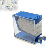 Hot Sale Pro Dental Storage Box Dentist Cotton Roll Dispenser Holder Press Type White Blue Red Yellow Color