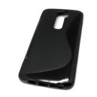 For LG G2 G 2 S Gel TPU Case Cover Skins + LCD Film,Black