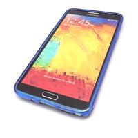 Blue S Gel TPU Case Cover Skins + Film For Samsung Galaxy Note III 3 N9000