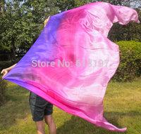 free shipping 1pcs belly  dance silk veil 3color purple-rose-pink ,silk veil belly dance wear , factory silk veil