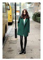 Export the original single new woolen jacket coat female coat and long sections Slim European style woolen suit