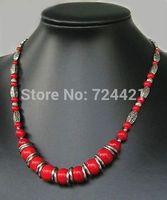 Tibet coral necklace details