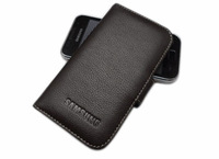 100% Genuine Leather Phone Case For Samsung Galaxy S i809 Wallet Leather Case ,3 Color