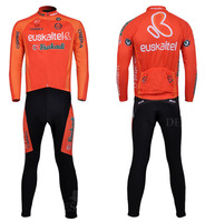 Autumn and winter fleece euskaltel ride service bicycle clothing long-sleeve ride set plus size