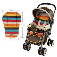 hot waterproof baby Stroller Cushion Stroller Pad Pram Padding Liner Car Seat Pad Rainbow general cotton thick mat