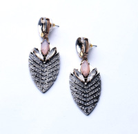 Fashion Accessories 2014 Summer New Arrival Luxury Alloy Vintage Elegant Colorful Women's Stud Earring  Free Shipping