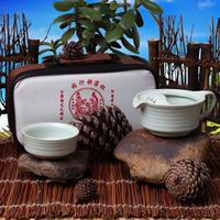 Porcelain cup pot portable travel kung fu tea ceramic tureen teapot belt bag