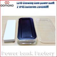 alibaba supplier 50PCS power bank ultra power bank portable external battery charger L316 Chewing Gum Power bank polymer 3000MAH