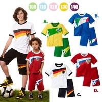 2014 children's clothing male short-sleeve child set child summer male short-sleeve twinset 5set/lot ,free shipping