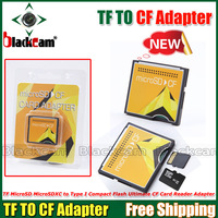 NEW  original  TF TO CF adapter / TF MicroSD MicroSDXC to Type I Compact Flash Ultimate CF Card Reader Adapte Free Shippin