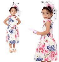 Hawaii wind Printing girls baby sweet summer cotton sleeveless dress
