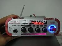 5pcs Amplificador Automotivo Falantes FM Audio +MIC + MP3 Speaker Mini HiFi Stereo Amplifier for iPod / Motorcycle / Car