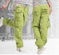 New 2014 Women's Clothing Fashion Womens Cargo Pants Hip Hop Dance Harem Pants Sweat Pants Girls Baggy Multi Pocket Trousers